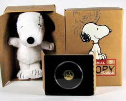 Peanuts Woodstock Proof 1/25 Gold coin CO 1173
