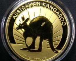 2011 Kanagroo One Ounce Gold Coin BU