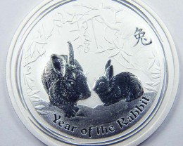 Lunar 2011 Year of the Rabbit 1/2 Ounce Silver Coin