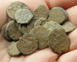 UNCLEANED DESERT PLATINA  MIXED BIBLICAL COINS  AC 707