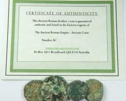 PARCELUNCLEANED DESERT PLATINA  MIXED BIBLICAL COINS  AC 709