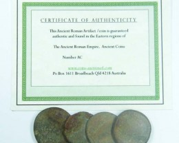 ONE UNCLEANED DESERT PLATINA  MIXED ROMAN COIN AC 712