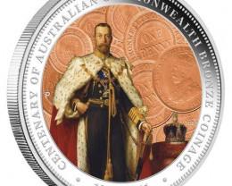Australian Commonwealth Bronze Coinage 1911-2011 1oz Silver