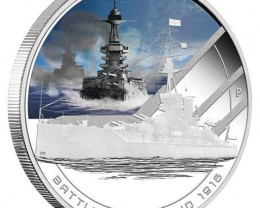 Famous Naval Battles 1oz Silver Proof Coin Battle of Jutland