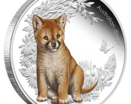 Australian Bush Babies 1/2oz Silver Proof Dingo Coin