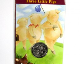 THREE LITTLE PIGS  COIN & 7 PAGE STORY FOLDER CO 1196
