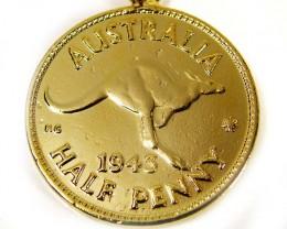 GENUINE AUSTRALIAN 1943 COIN KEY RING J1625 ML