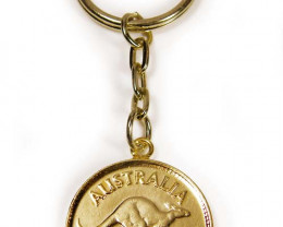 GENUINE AUSTRALIAN 1951 COIN KEY RING J1629 ML