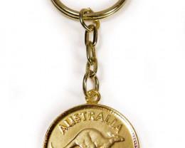 GENUINE AUSTRALIAN 1951 COIN KEY RING J1629 ML