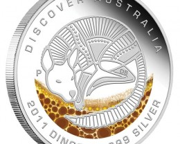 2011 Discover Dreaming 1 oz Kangaroo silver  proof coin
