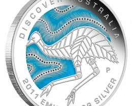 2011 Discover Emu 1 oz Proof Silver Coin