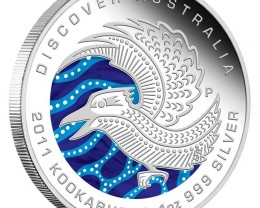 Discover 2011 Dreaming Kookaburra 1 oz silver Proof Coin