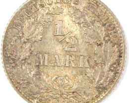 1917 GERMAN  .900 SILVER COIN    J 1672