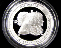ANDA 100 Years Australian coinage SILVER COIN J 1686