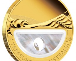 Gold Treasures of Australia - Pearls 1oz Proof Locket Coin
