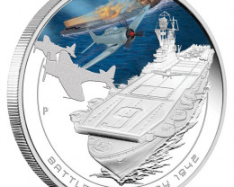 Battle Of midway Famous naval battle Silver One Ounce Coin