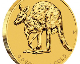2011 Mini kangaroo Gold coin 0.5 grams