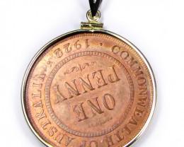 GENUINE AUSTRALIAN ONE PENNY 1922 COIN  J1680