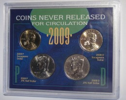 MINT MS-70  2009 COINS NEVER RELEASED FOR CIRCULATION/SEALED