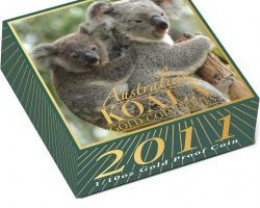 Australian Koala Gold Coin Series 2011 1/10oz Gold Proof Coi