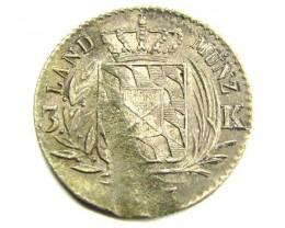 BAVARIAN  33.3 SILVER COIN      J 1881