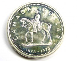 1973 ONE DOLLAR CANADIAN SILVER COIN      J 1883