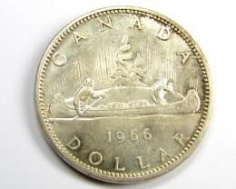 1966 DOLLAR .800 SILVER COIN      J1885