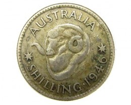 ONE SHILLING 1946 .925  SILVER COIN CO919