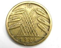 1924 GERMAN 5PF COIN     J 1893