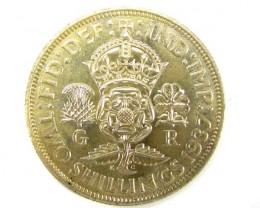 unc 1937 shilling silver coin j1905