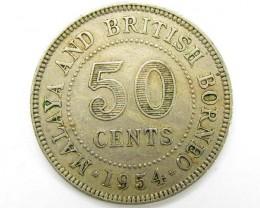 50 cents 1954 borneo     J 1924