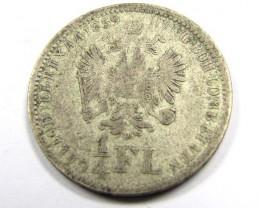 AUSTRIA 18591/4 FL .520 SILVER COIN  J 1925