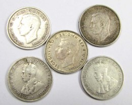 THREE SIXPENCE .925 SILVER COIN  J 1938