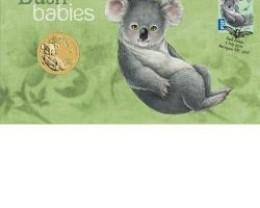 AUSTRALIAN BUSH BABIESKOALA  COIN N STAMP