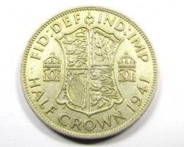 1941 HALF  CROWN   500SILVER COIN CO988