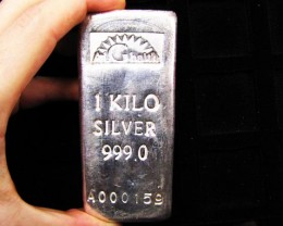 Silver Bullion Bars - 1 Kilo
