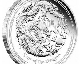 2012 AUSTRALIAN  DRAGON ONE OUNCE COIN
