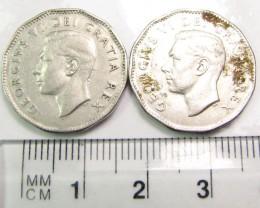 2 X 1948  5 CENTS  COINS  J 1964