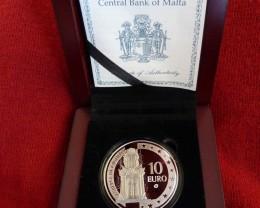 2008 Silver Collector Coin MALTA -Auberge De Castille -PROOF