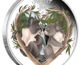 Forever love 2012 half Oz  silver proof perth Mint  Coin