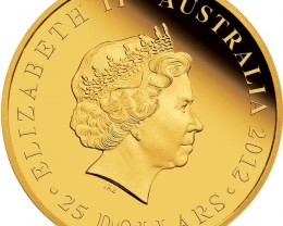 H.M. QUEEN ELIZABETH II - DIAMOND JUBILEE 2012 1/4OZ GOLD PF