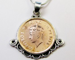 1939 COPPER COIN IN SILVER PENDANT CO 1101