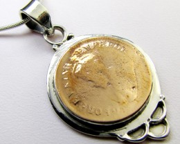 1936 COPPER COIN IN SILVER PENDANT CO 1105