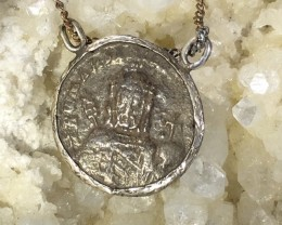 Ancinet Byzantine coin bust of Christ ,in pendant CO 1121