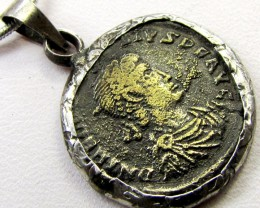 FREE SHIPPING ANCIENT ROMAN  BYZANTINE  COIN IN  PENDANT CO 1135