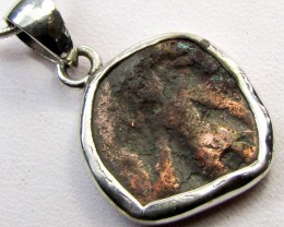 2500 YR OLD ANCIENT  KING COIN IN  SILVER PENDANT CO 1141