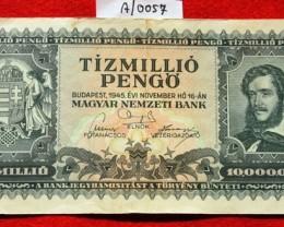 Hungary Tízmillió (10.000.000) Pengő 1945. Pick 123