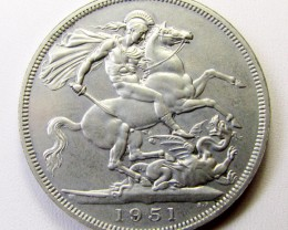CROWN  FESTIVAL OF BRITAN 1951 UK COIN    CO 1251