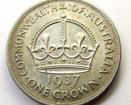 1937 SILVER CROWN ..925 SILVER COIN    CO 1275