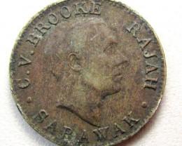1920 SARAWAK 1 CENT COIN    CO 1294
